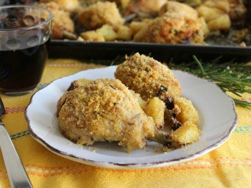Pollo e patate gratinati al forno ricetta facile e molto gustosa
