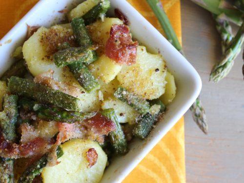 Antipasto di patate e asparagi