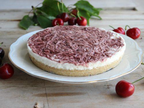 Cheesecake ricetta con marmellata di ciliege senza cottura torta fredda