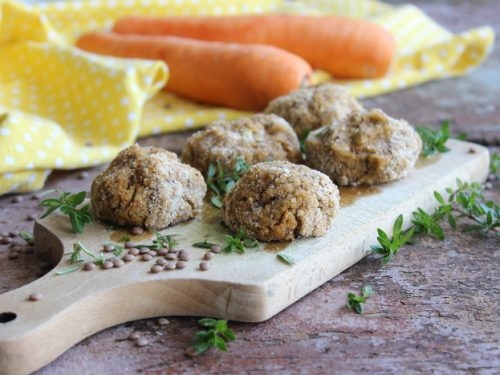 Polpette di lenticchie vegane al forno ricetta leggera facili gustose