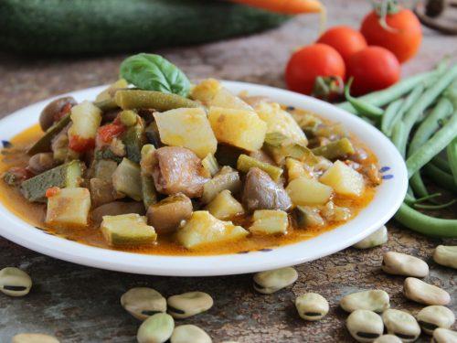 Minestrone estivo con le fave secche spuntate ricetta pugliese