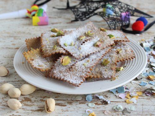 Chiacchiere al pistacchio ricetta senza burro con bimby dolci di carnevale