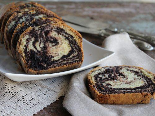 Plumcake zebrato ricetta torta vegana marmorizzata bicolore senza uova