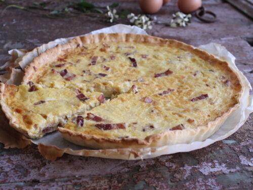 Quiche Lorraine ricetta originale francese torta salata con pasta brisè facile