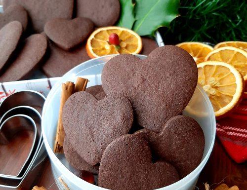 Biscotti al cacao amaro e vaniglia
