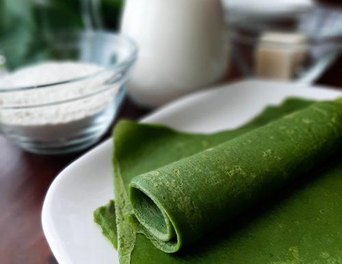 Crespelle verdi con spinaci e formaggio