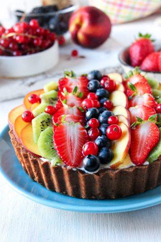 crostata con frutta fresca e crema al mascarpone