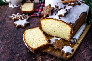 Plumcake natalizio al limone con glassa