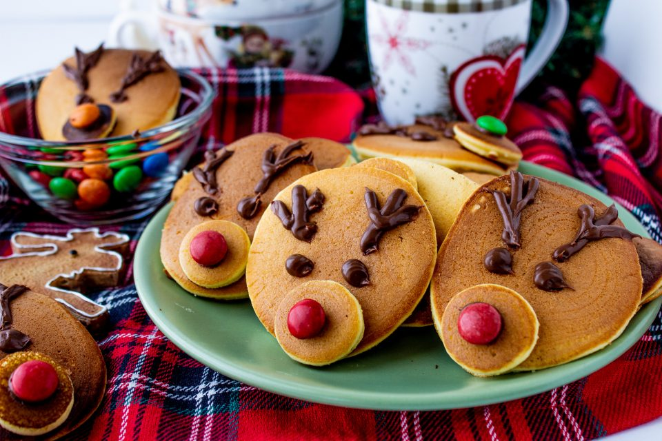 Pancakes renne di Natale