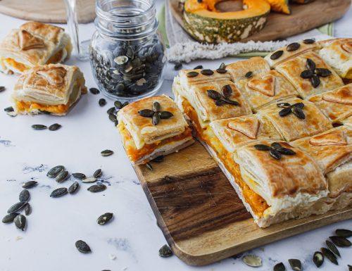 Crostata rustica con zucca, patate e speck