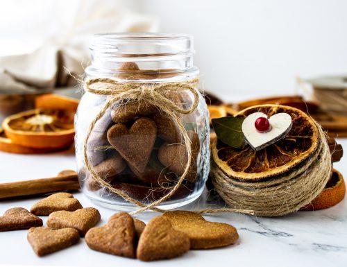 Biscottini di san Valentino in barattolo