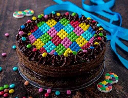 Torta Arlecchino al cioccolato