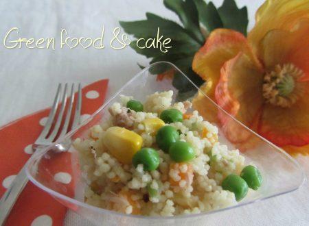 Cous cous con tonno, verdurine e zenzero