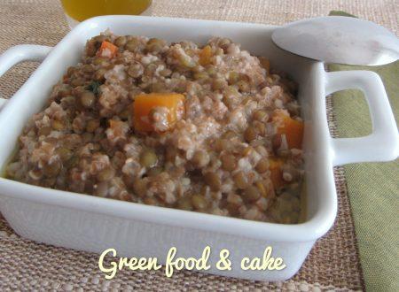 Zuppa di spezzato di farro e lenticchie