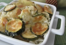 Riso patate e zucchine al forno