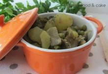 Minestra di patate carciofi e piselli