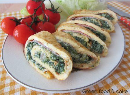 Omelette con ricotta e spinaci