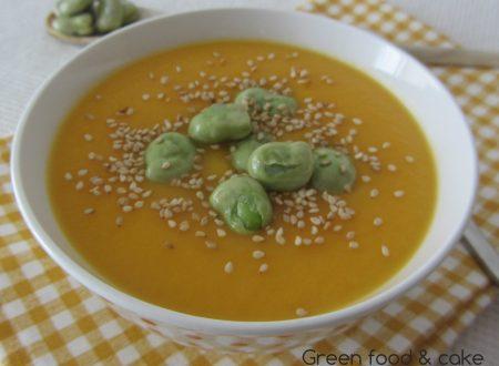 Crema di carote e fave al curry