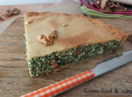Torta salata con spinaci e noci