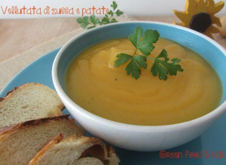 Crema saporita di zucca e patate