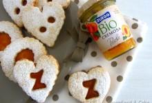 Biscotti di farro al limone con bio confettura di pesche