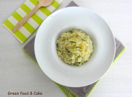 Risotto con crema di zucchine e limone