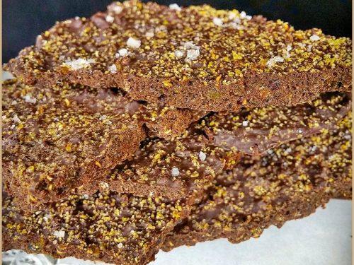 Bark alla Quinoa, lo Snack Intelligente, senza latticini e senza glutine.