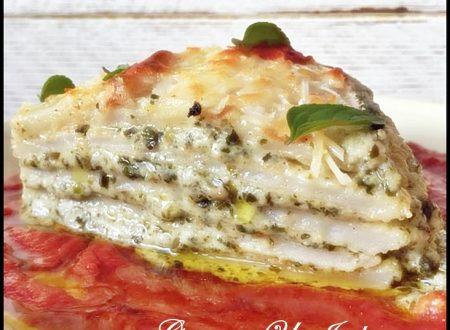 Panigacci in Lasagna. Piatto vegetariano ottimo!