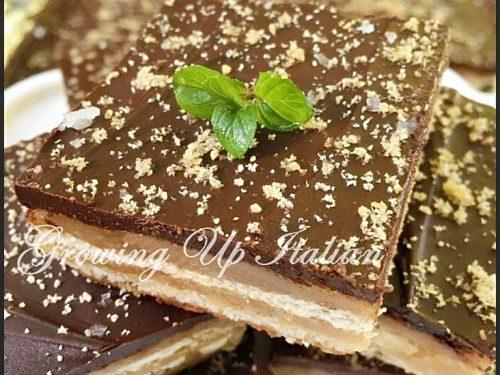 Crackers salati al Cioccolato con soli 5 ingredienti. (Twix fatti in casa)