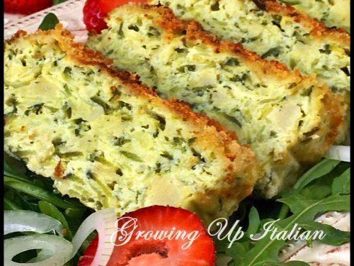 Savory Zucchini Bread Pudding. Mattonella di Zucchine.