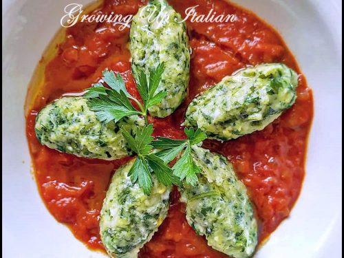 Tuscan 'Gnudi: Italy's naked pasta.