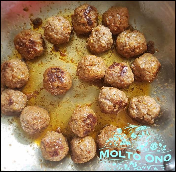 Salisbury Meatballs spaghetti