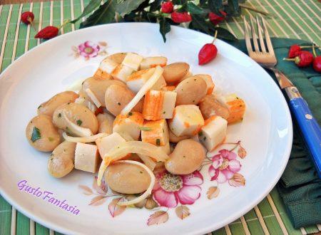 Insalata surimi e fagioli