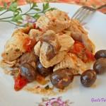Spezzatino di tacchino funghi e olive