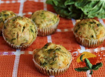 Muffin salati bietole e caciotta