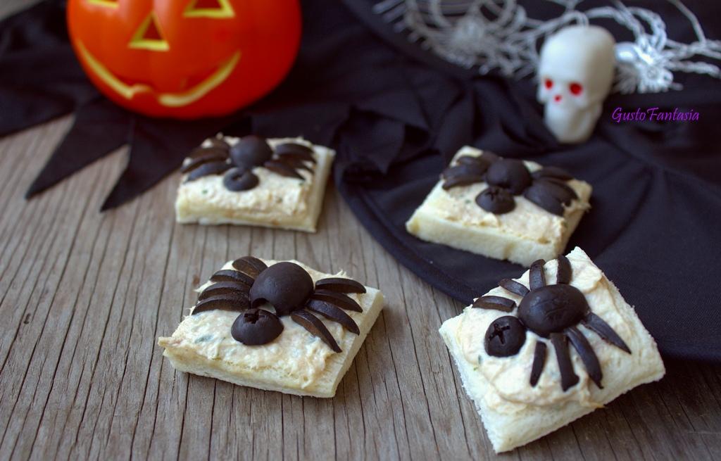 Antipasti ragno di halloween gustofantasia for Cucinare x halloween