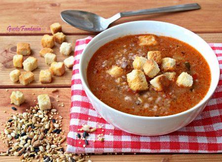Zuppa di patate e cereali