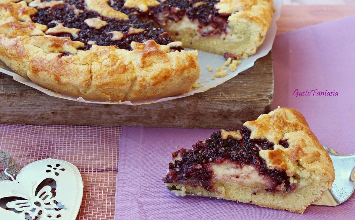 Crostata Con Crema Di Mascarpone E Marmellata Gustofantasia