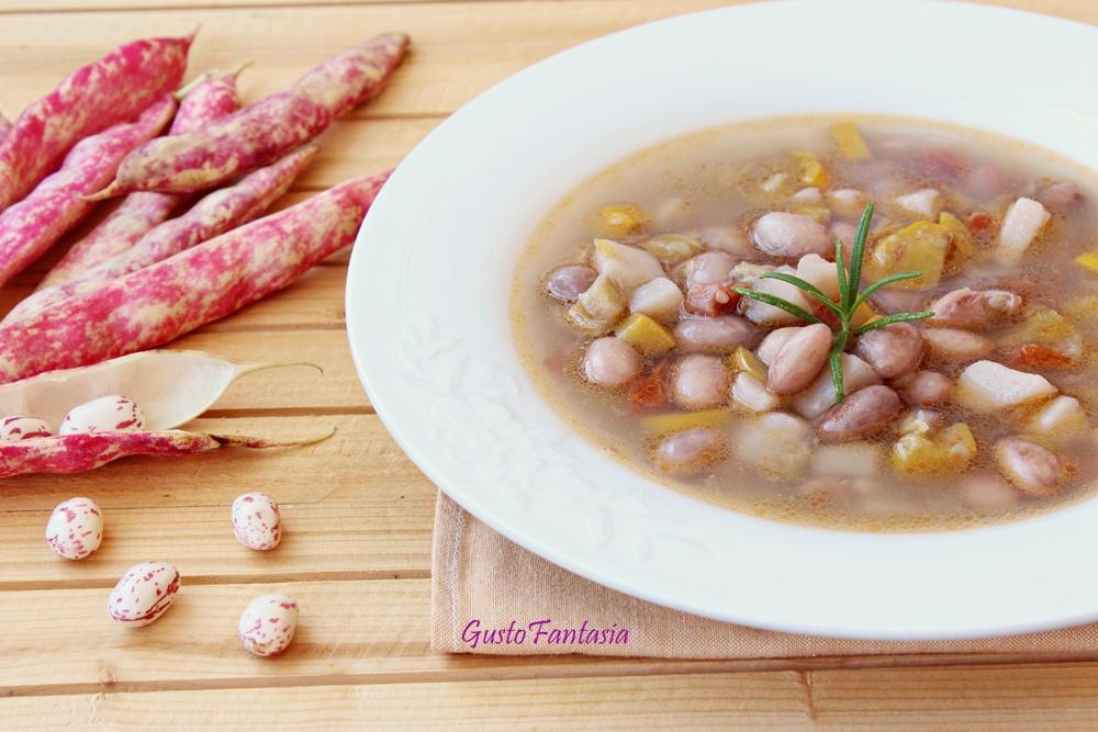 Zuppa di fagioli estiva