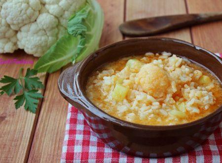 Minestra di riso e cavolfiore