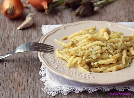 Pasta ai carciofi e formaggio