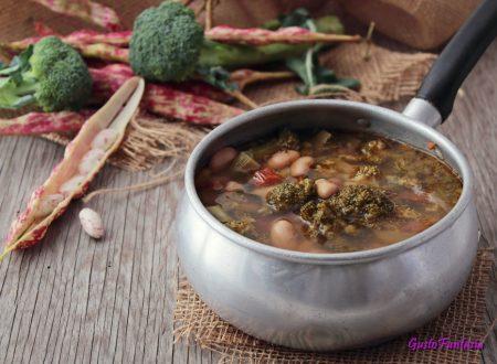 Zuppa di broccoli e fagioli