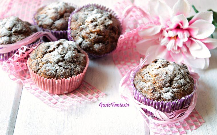 Muffin con cereali al cioccolato