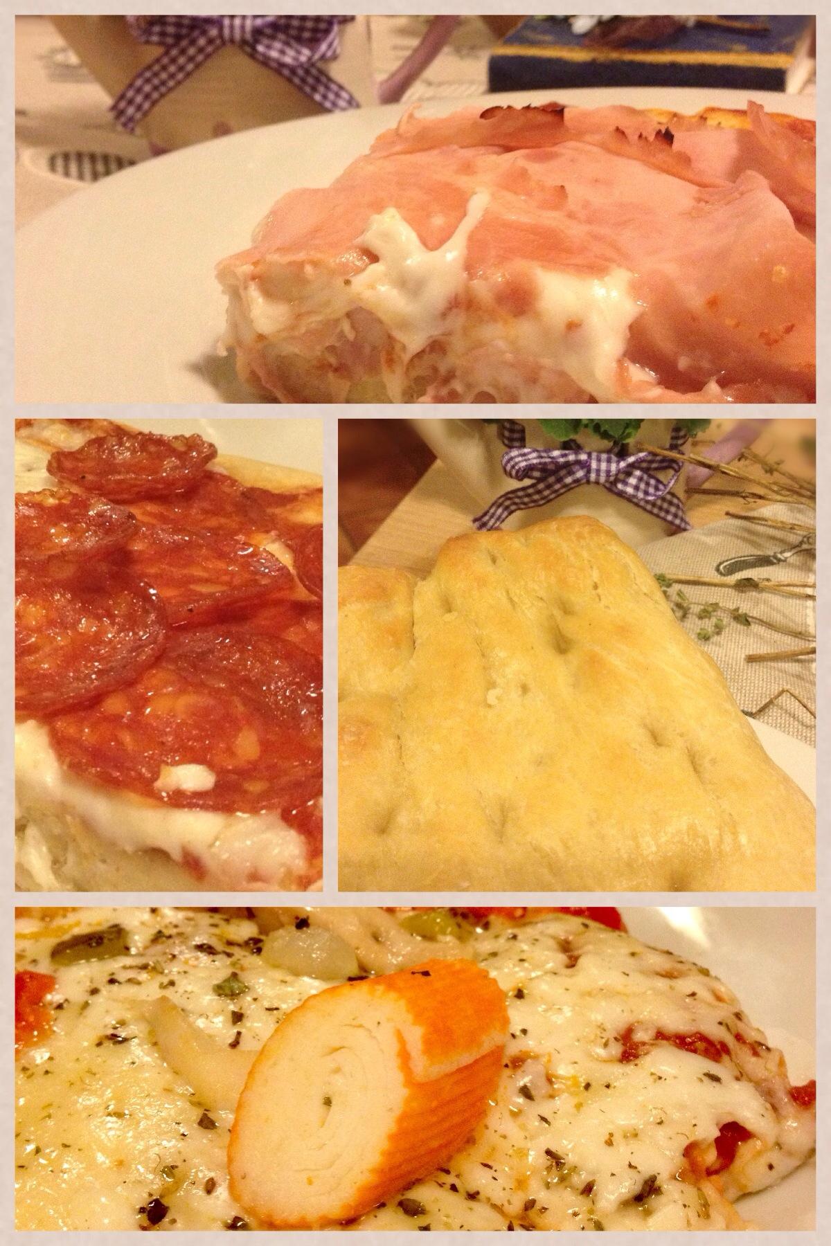 pizza impasto con uovo e latte