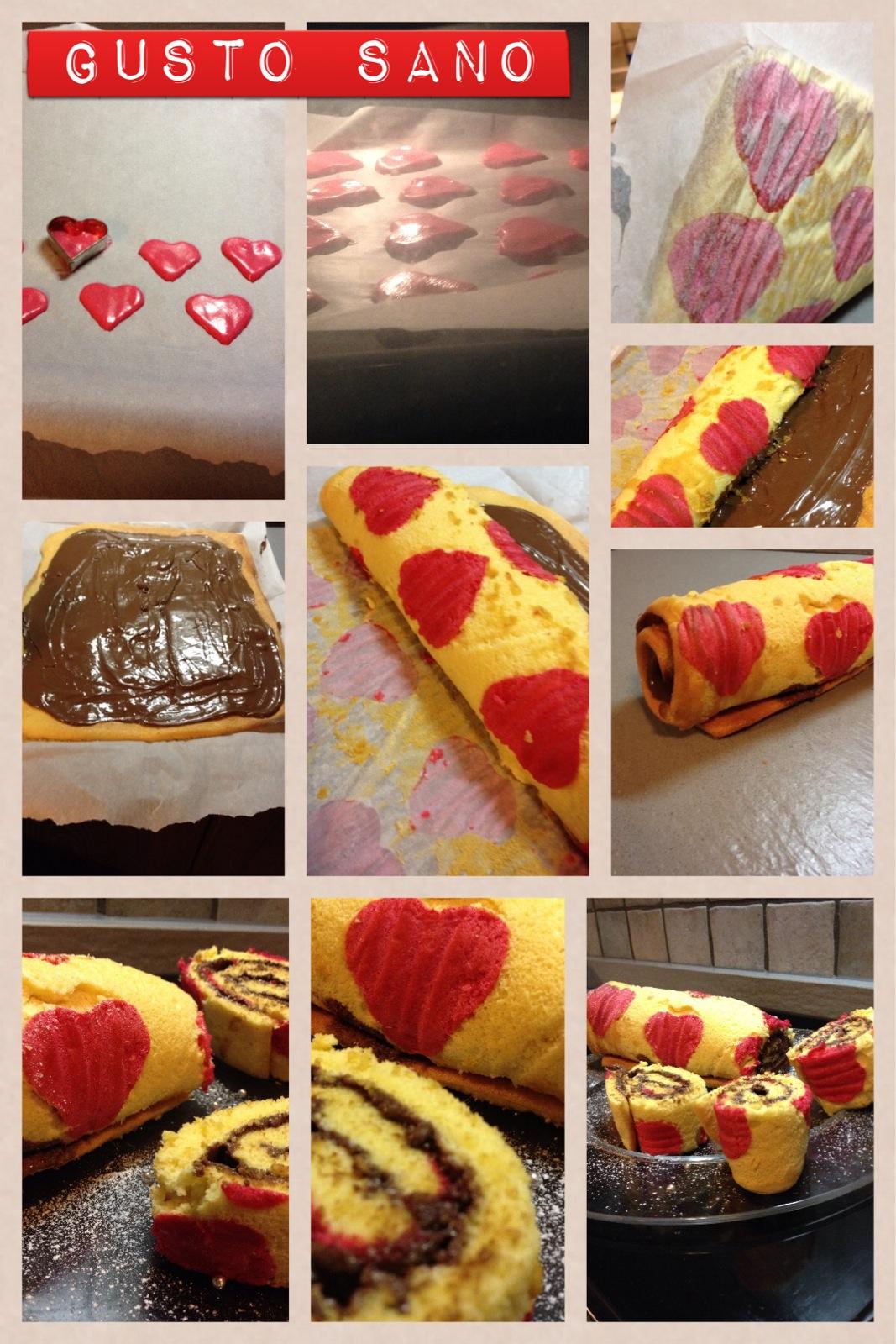rotolo di nutella san valentino