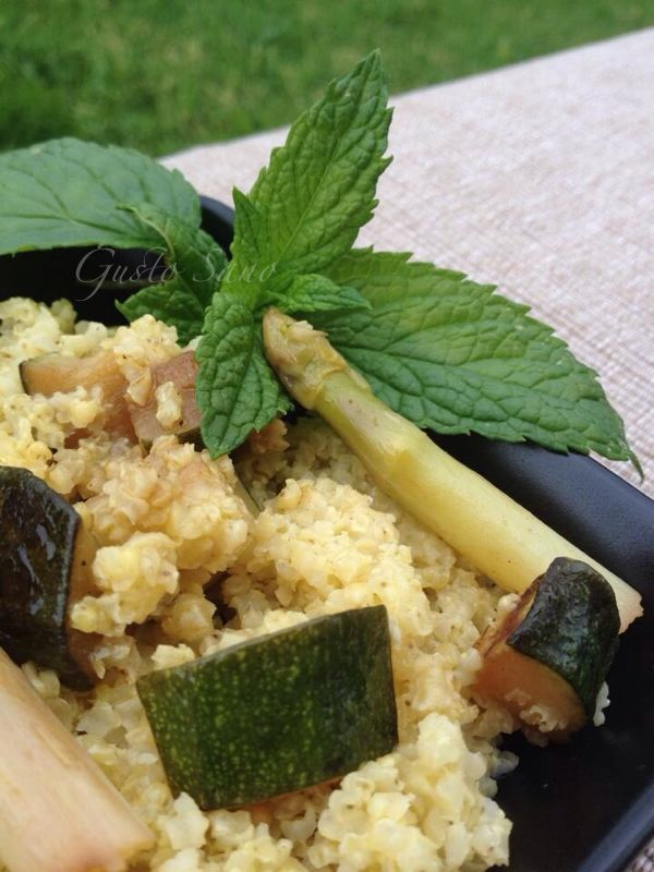 miglio con zucchine asparagi e menta