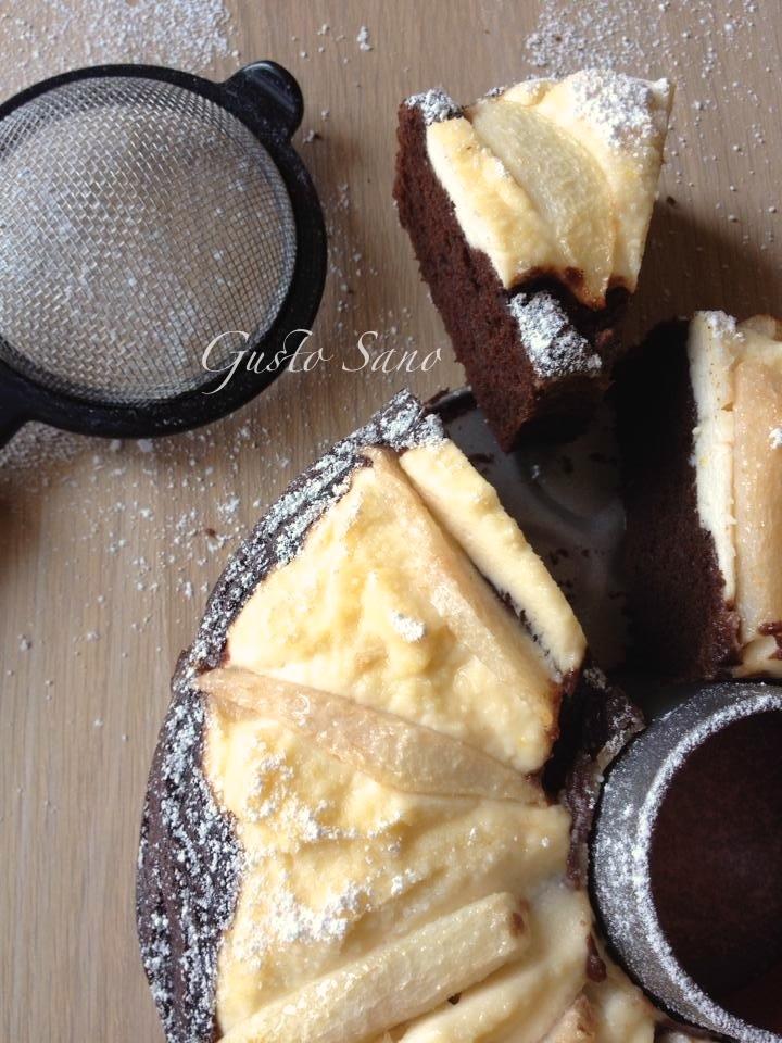 torta cacao ricotta e pere
