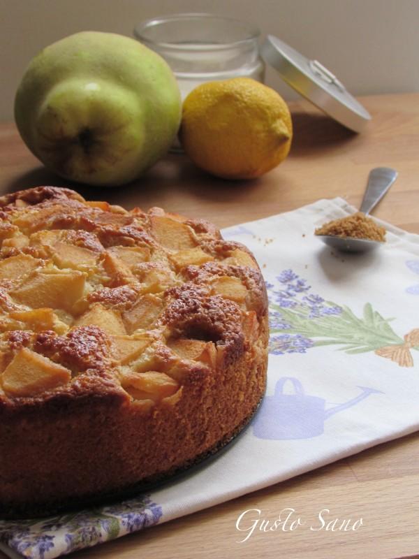 torta con mele cotogne (senza latte e senza burro)