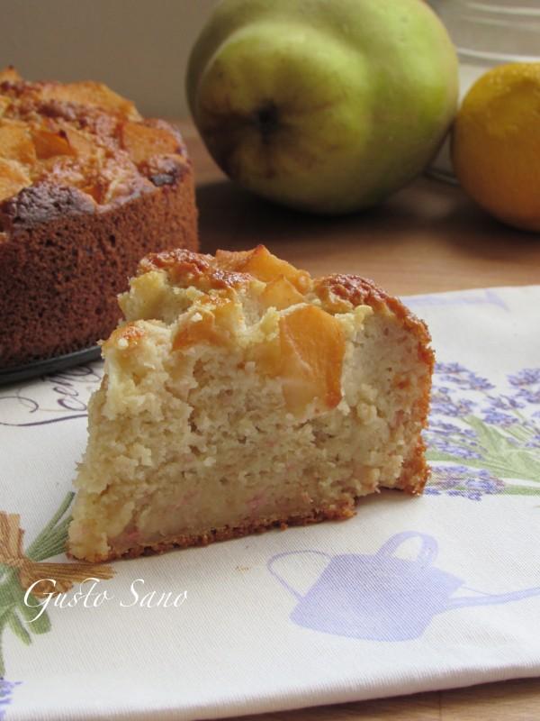 torta di mele cotogne ( senza latte e senza burro)