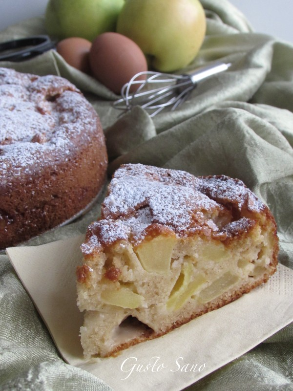 torta di mele leggera